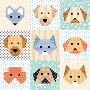 Domestic Animals Cheater Quilt