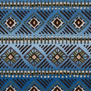 Mud Cloth Blue Ombre