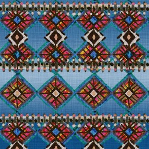 African Mud Cloth Inspired Ombre Blue