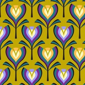 Deco tulips - mustard, gold and crocus
