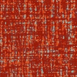 Psychedelic Tweed--red-orange-aqua