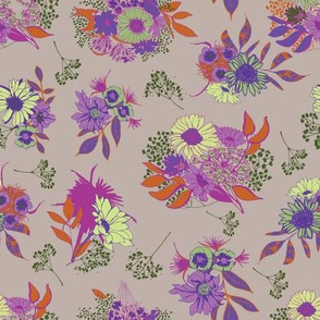 floral repeat on putty