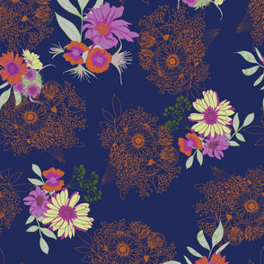 floral with linear bouquets in blue and orange-01