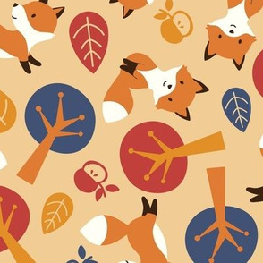 Fox kits - autumn - large scale