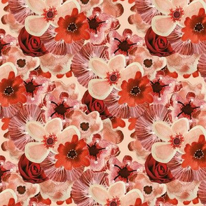 Ballerina Flowers Red Pink Small