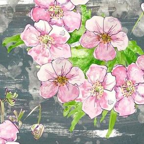 Pretty pastel Floral - cubed