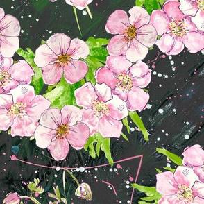 Deep, dark & diagonally floral