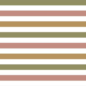 Stripe| Brown Green Pink|Graced|Renee Davis
