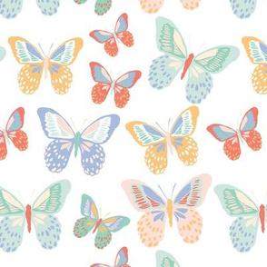 Rainbow--Butterflies 7x7