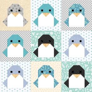 Origami Penguin Cheater Quilt