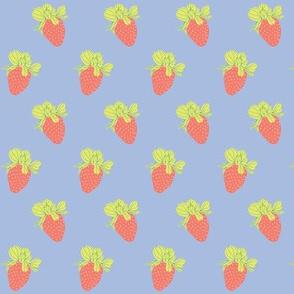 Periwinkle-Strawberries 2.6x1.9