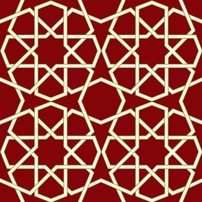 Geometric White and Red