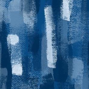 Brush trails in blue