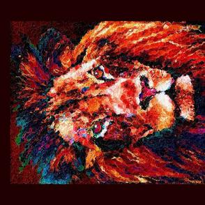 panel glass mosaic lion copper brown 4 panels per yard PSMGE