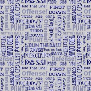 football words 2 blue and gray