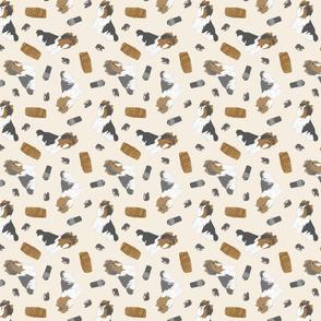 Tiny Biewer terriers - barn hunting