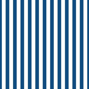 Classic Blue and White 3/4 inch Vertical Deck Chair Stripes