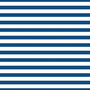 Classic Blue and White 3/4 inch Horizontal Deck Chair Stripes