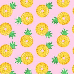 """(1.5"""" scale) Pineapple donuts - doughnuts - summer - pink  - LAD20BS"""