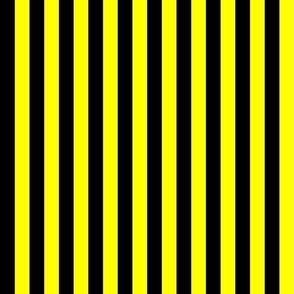 One Centimeter Yellow and Black Vertical Stripes