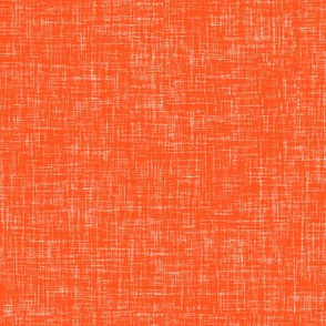 Orange Red Linen Texture Solid
