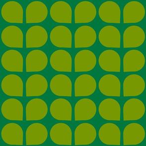 Verdure- Mod Scandi Leaves- Green- Small Scale