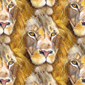 seamless coordinate lion chalk pastel original PSMGE
