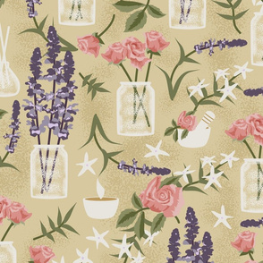 Herbal Magic- Lavender, Rose and Jasmine Aromatherapy- Large Scale