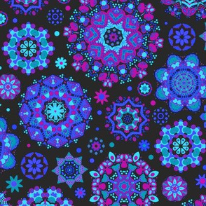 Candy Colored Kaleidoscope// blue