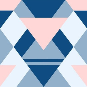 Pink and blue diamonds