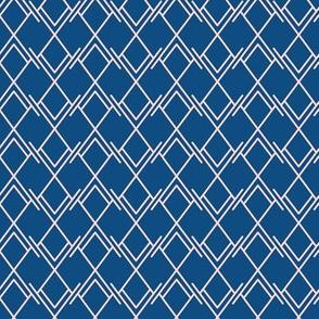 Pink rhombus on blue