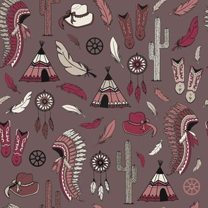 Colorful westernstyle repeat seamless pattern