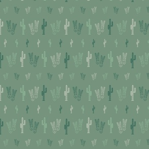 Cactus and western boots seamless pattern print background texture