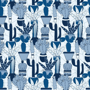 Blue Agave Cactus with Abstract Background