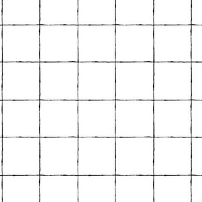 Thin Grid: Black and White Mid Scale | Painterly Geometrics