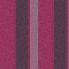 Raspberry Fields Woven Stripe