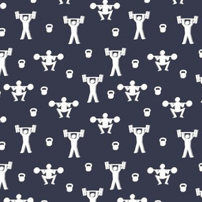 Weight lifting fabric, strongmen and kettlebells
