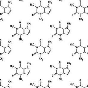 caffeine coffee molecule chemistry - Small scale