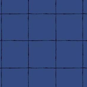 Thin Grid: Large Scale Blue | Painterly Geometrics