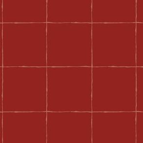 Thin Grid: Large Scale Red | Painterly Geometrics
