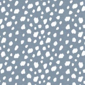 Deer Spot Linen Blue GRey