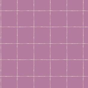 Thin Grid: Mauve Mid Scale | Painterly Geometrics