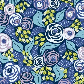 custom palette papercut roses