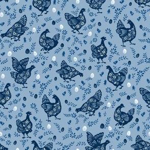 Little Blue Hen - Poule Bleue