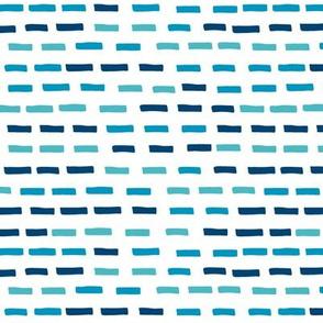 Playful stripes (blue)