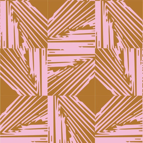 Woven | pink + rust