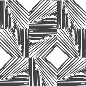Woven | black + white