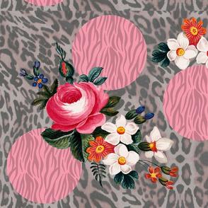 Big Dots and Flowers Animal Prints