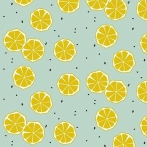 Lemons on mint - smallscale