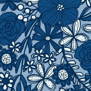 Classic Blue Blooms (Light)